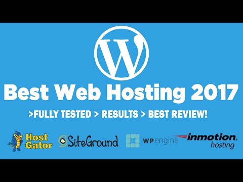 Best Web Hosting For WordPress 2018