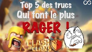 Top 5 des trucs qui font le plus RAGER sur Clash of Clans [fr]