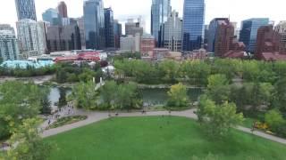 Downtown Calgary Alberta. Canada. Drone footage.