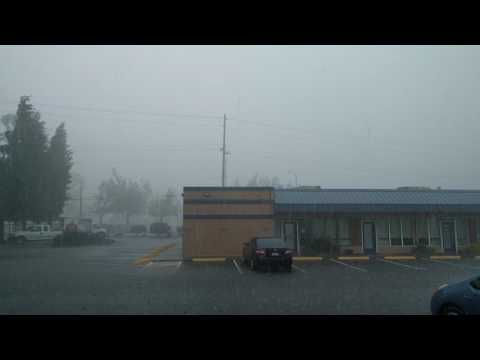 Freak storm in Lacey, Washington State