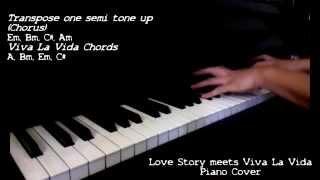Love Story meets Viva la Vida (Piano Cover) + Chords