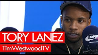 Tory Lanez on 6IX9INE, Trippie Redd, Joyner Lucas, Love Me Now, being hottest out - Westwood