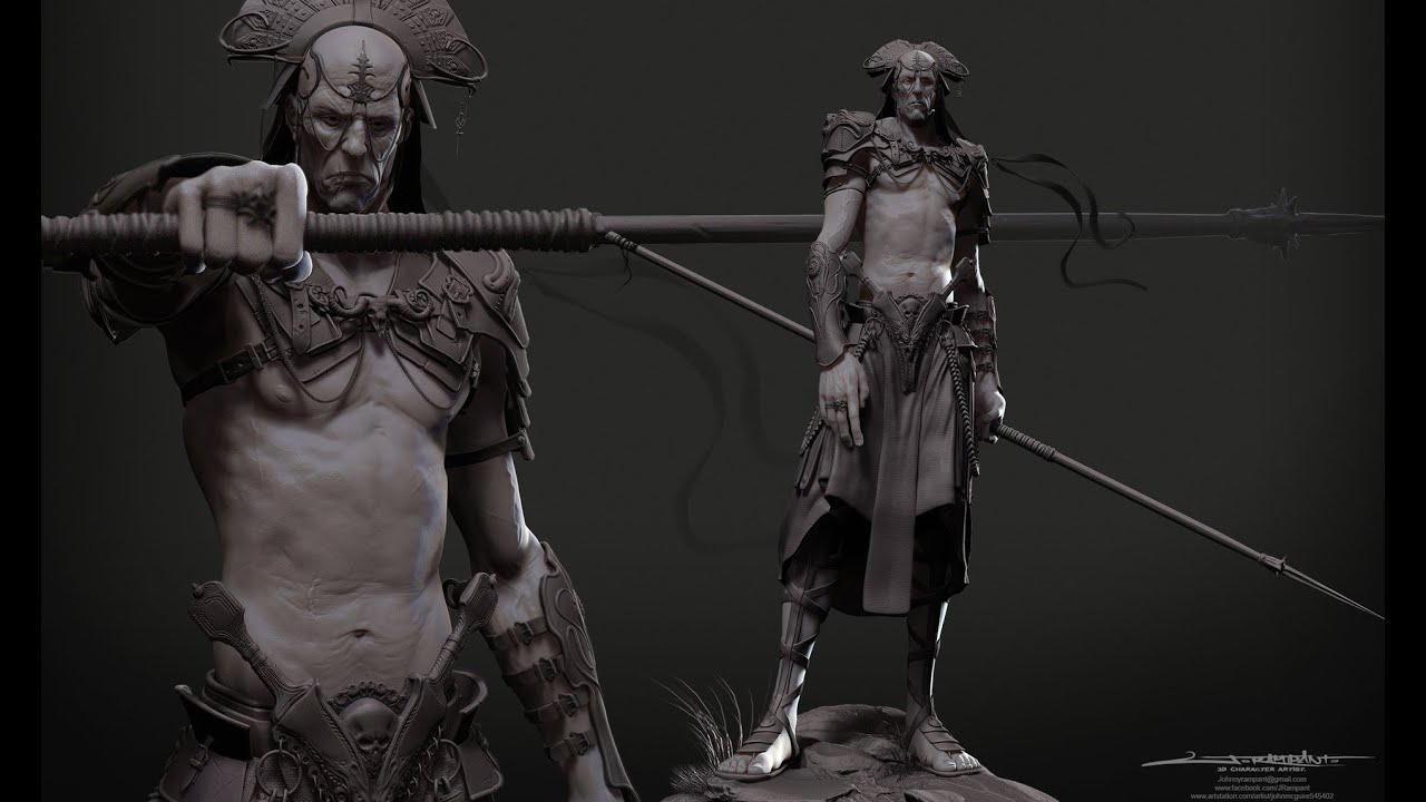 Character Design Zbrush : Organic modelling in zbrush full character youtube