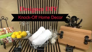 Designer Diy:  High-end Knock-off Decor
