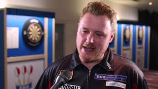 Jim Williams after his 6 3 victory over Derk Telnekes BDO World Darts Trophy