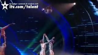 Spelbound amazing gymnast act Britains Got Talent.