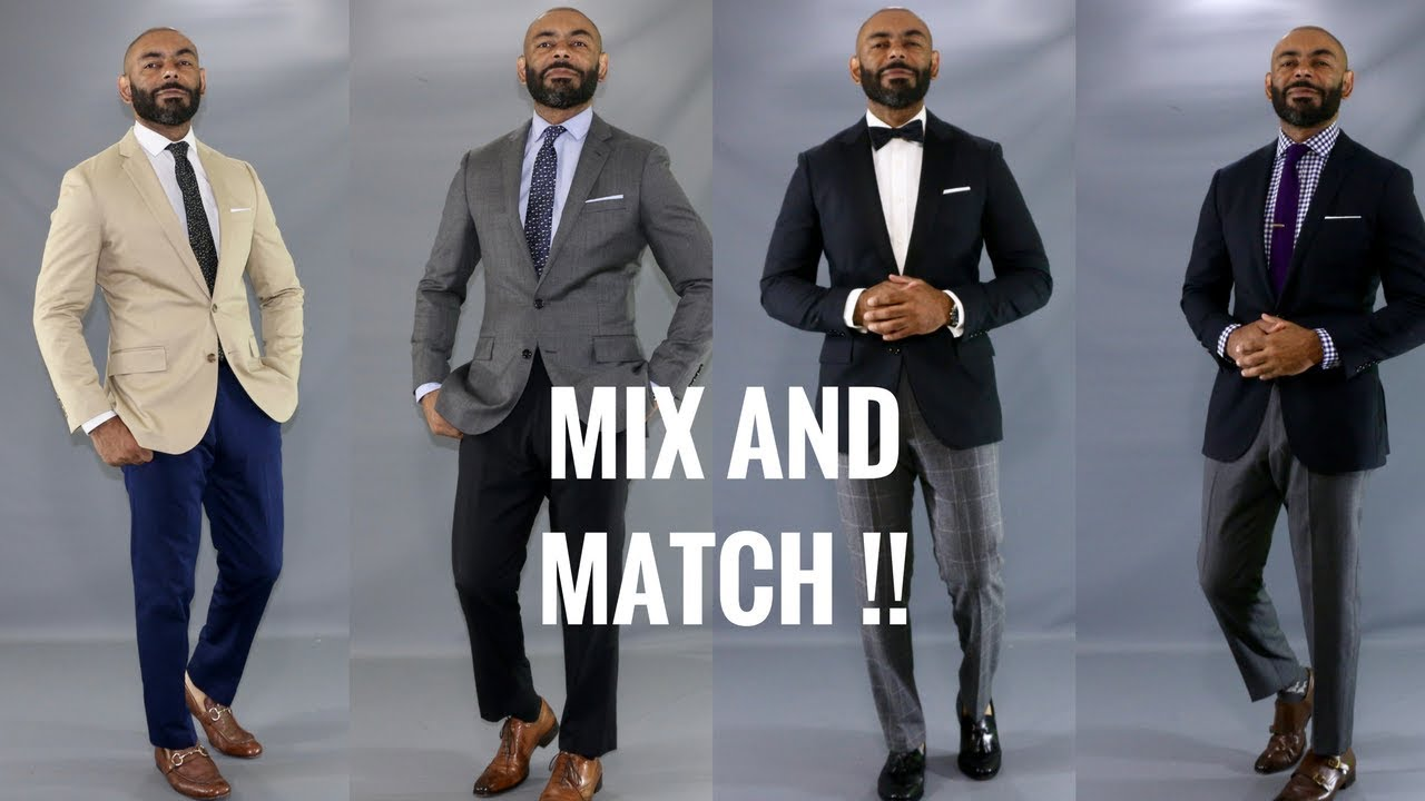 5af01979a6d0 How To Mix And Match Men's Suits/Mix And Match Suits - YouTube