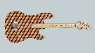 Making A Blank For 3d End Grain Guitar Body