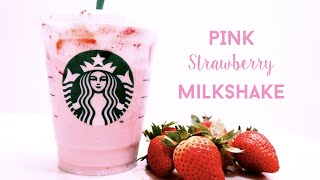 Video Resep Strawberry Milkshake | How to make DIY Pink Drink Starbucks Strawberry Milkshake download MP3, 3GP, MP4, WEBM, AVI, FLV Oktober 2019