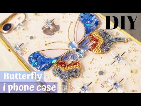 🌹uv-resin-tutorials-amazing【shining-butterfly-phone-case】diy/wire-craft