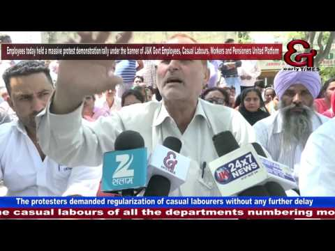 Govt employees, casual labourers, pensioners demand regularization