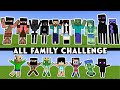 FAMILY VS FAMILY CHALLENGE - WHO IS THE STRONGEST - (ALL EPISODE) MINECRAFT MONSTER SCHOOL