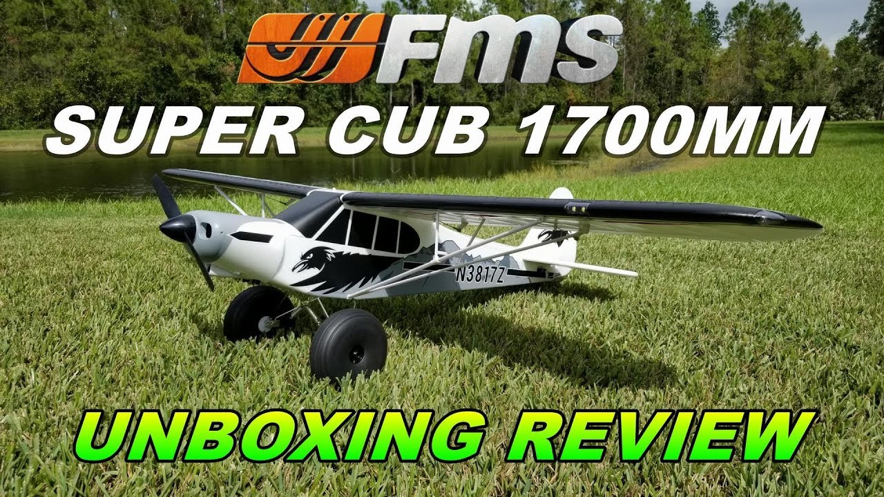 FMS PA-18 SUPER CUB 1700mm Unboxing Review By: RCINFORMER