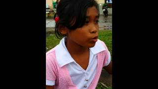 A 10 year old girl mourns the loss of her bestfriend after typhoon Haiyan / Yolanda.