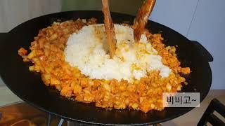 그리들 요리 | 김치 볶음밥 만들기 | Making k…