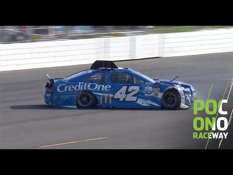 Larson suffers hard crash in opening practice at Pocono