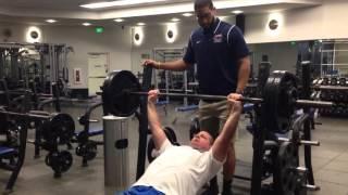 245 pounds x 13 incline bench press