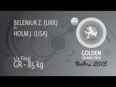 1/4 GR - 85 kg: Z. BELENIUK (UKR) df. J. HOLM (USA) by Injury Default, 0-0