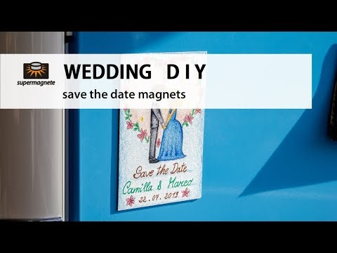 WEDDING DIY | Save the Date Magnets