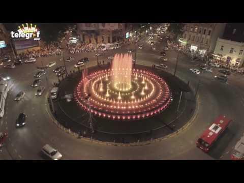 Fontana na Slaviji u Beogradu iz vazduha (4K video sa drona)