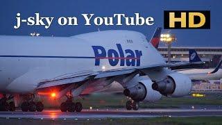 [HD] Polar Air Cargo Boeing 747-46F/SCD [N450PA] at Narita Airport / 成田国際空港
