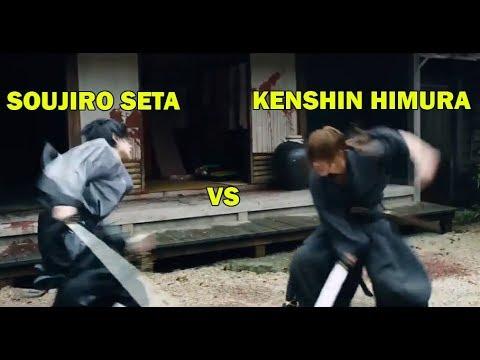 Pertarungan Kenshin Himura (Hitokiri BATOSAI) Vs Soujiro Seta Dalam Film SAMURAI-X Live Action