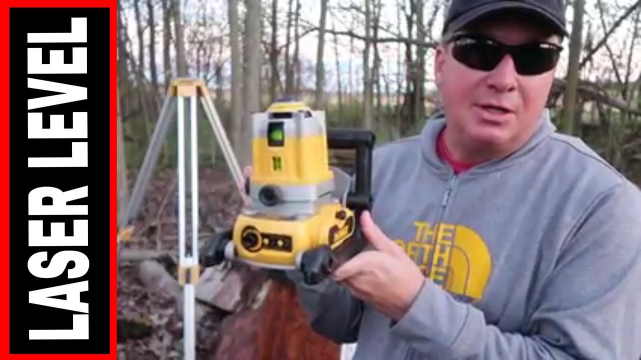 DEWALT ROTARY LASER LEVEL- TOOL REVIEW TUESDAY! - YouTube
