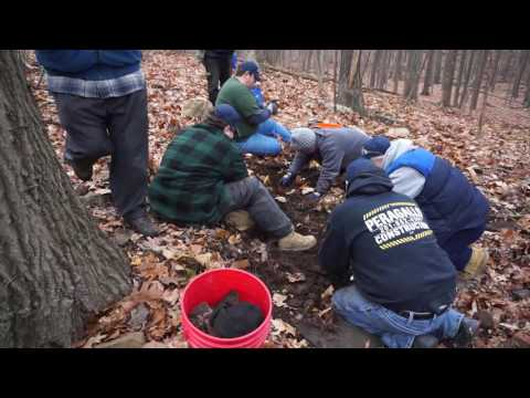 Digging for Agates in Suffern, NY with the North Jersey Mineralogical Society