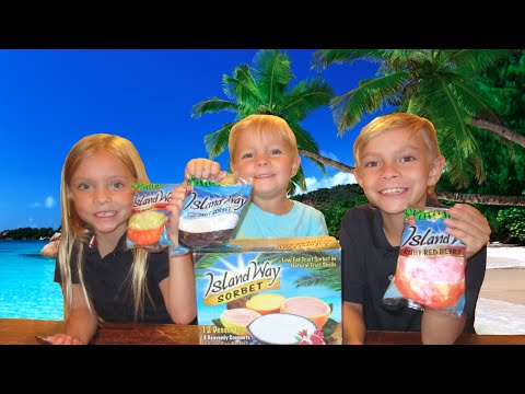 🍦👦KIDS DISCOVER THE BEST ICE CREAM DESSERT ON THE PLANET👧🍨! ISLAND WAY SORBET | DYCHES FAM