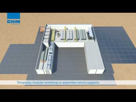 Compact Linear Fresnel Reflector technology by CNIM   Concentrating solar power plant
