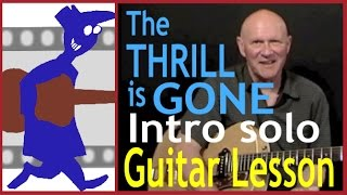The Thrill is Gone Intro Solo Guitar Lesson