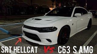 Dodge Charger SRT HELLCAT vs Mercedes C63 S AMG + HELLCAT 0-140 Sprint