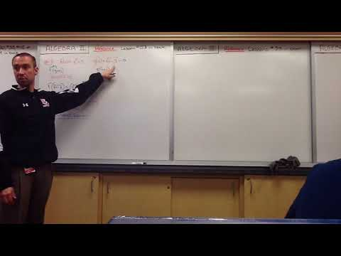 Algebra II-Lesson #8 Part #5-Understanding and Performing Composition of Functions and Domain