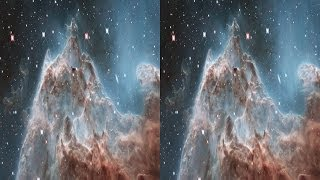 Evaporating Peaks 3D: Pillars in the Monkey Head Nebula