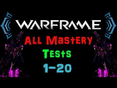 [U17] Warframe - Mastery Rank 1-20 Test [All Tests] [HD] | N00blShowtek