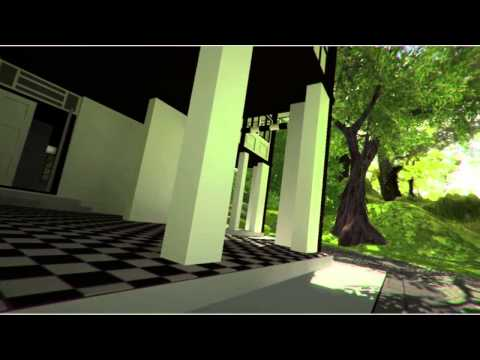 Spooky Colonial Building (real-time 3D scene)