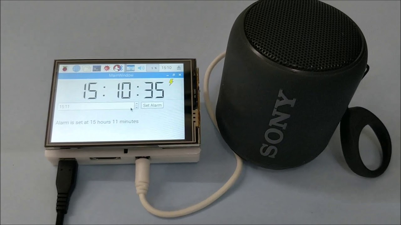Raspberry Pi Based Jarvis themed Speaking Alarm Clock