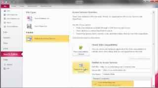 Publishing Your Web Database