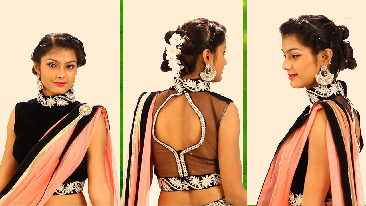 simple indian hairstyles for long hair for wedding reception