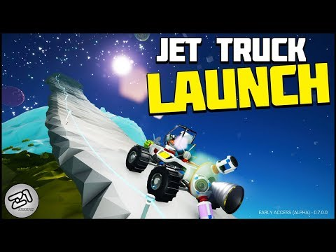 JET TRUCK RAMP ! Playing with the Thruster ! Astroneer New Rover Update 7.0 E5 | Z1 Gaming
