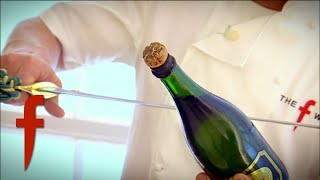 Gordon Ramsay Opens Champagne With A Sword | The F Word