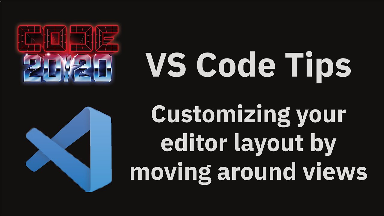 Customizing your editor layout by moving around views