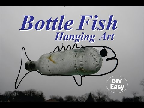 DIY Antique Bottle Fish Nautical Hanging Art