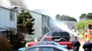 Arcata, California fire footage. 5/5/12