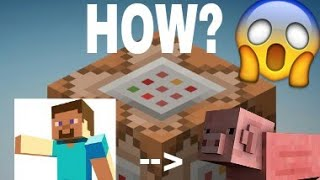 How to Morph into a mob with only one COMMAND BLOCK!