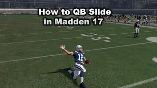 How to Qb slide in Madden 17