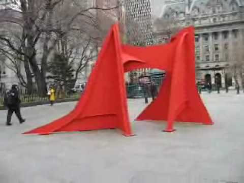 Alexander Calder exhibit at City Hall Park in March 2007