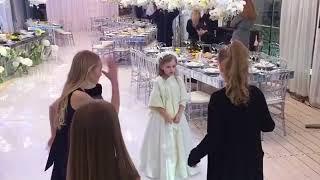 Милана Гогунская на свадьбе родителей учится танцевать
