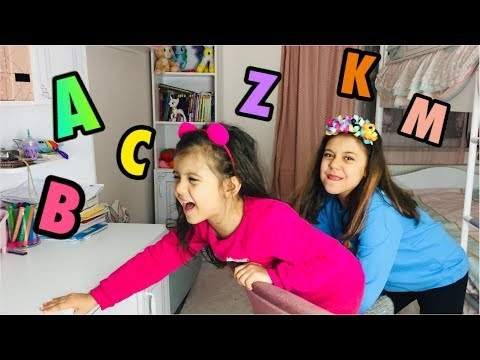 ALFABE CHALLENGE - Alfabe Eşya Bulma Oyunu - Funny Kid Video