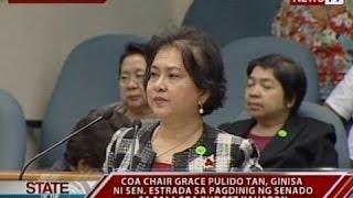 SONA: COA Chair Grace Pulido-Tan, ginisa ni Sen. Jinggoy Estrada sa Senado